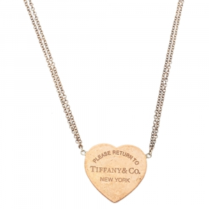 Tiffany & Co. Return To Tiffany Rubedo Heart Tag Silver Chain Necklace