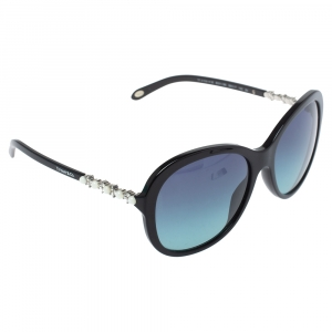 Tiffany & Co. Black Crystal Embellished/ Blue Gradient TF 4104-H-B Sunglasses