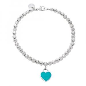 Tiffany & Co. Return To Tiffany Enamel Silver Bead Bracelet