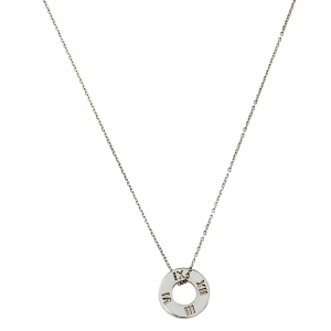 Tiffany & Co. Atlas Pierced Silver Pendant Necklace