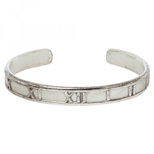 Tiffany & Co. Vintage Atlas Silver Open Cuff Bracelet