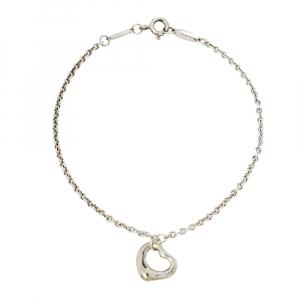 Tiffany & Co. Elsa Peretti Open Heart Sterling Silver Bracelet