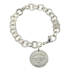 Tiffany & Co. Sterling Silver Return to Tiffany Circle Charm Bracelet