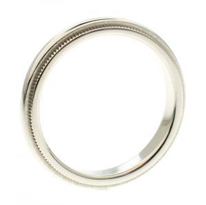Tiffany & Co. Tiffany Classic Milgrain Wedding Platinum Band Ring Size 52
