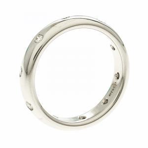 Tiffany & Co. Etoile Diamond & Platinum Band Ring Size 56