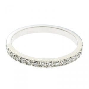 Tiffany & Co. Soleste Diamond Platinum Half Eternity Wedding Band Ring Size 54