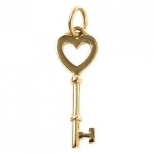 Tiffany & Co. Yellow Gold Heart Key Pendant