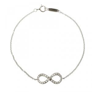 Tiffany & Co. Infinity Diamond & Platinum Bracelet