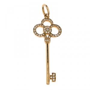 Tiffany & Co. Crown Key Diamond 18k Yellow Gold Pendant
