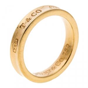 Tiffany & Co. 1837 18k Yellow Gold Narrow Band Ring Size 52