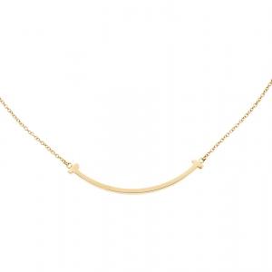 Tiffany & Co. Tiffany T Smile 18k Yellow Gold Mini Pendant Necklace