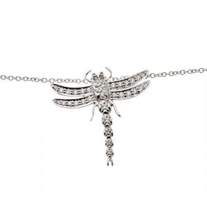 Tiffany & Co. Dragonfly Diamond Platinum Pendant Necklace