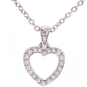 Tiffany & Co. Platinum and Diamond Tiffany Hearts Pendant Necklace