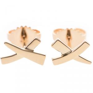 Tiffany & Co. 18K Yellow Gold Paloma Picasso Kiss Earrings