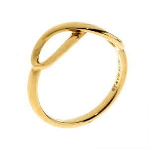 Tiffany & Co. Infinity 18k Yellow Gold Ring Size 55