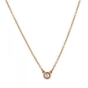 Tiffany & Co. Elsa Peretti Diamonds by the Yard 18k Rose Gold Necklace