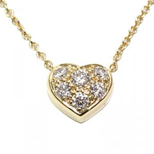 Tiffany & Co. Heart Diamond 18K Yellow Gold Pendant Necklace