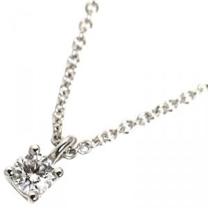 Tiffany & Co Diamond Platinum Pendant Necklace