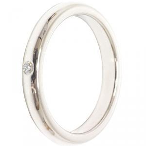 Tiffany & Co. Elsa Peretti Diamond Platinum Band Ring Size 49
