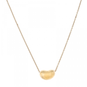 Tiffany & Co. 18K Yellow Gold Bean Pendant Necklace