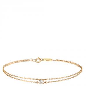 Tiffany & Co. 0.18 CTW Diamond Solitaire 18K Rose Gold Bracelet