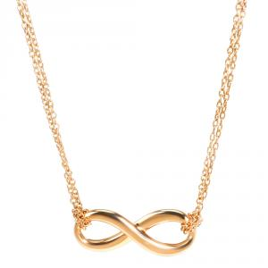Tiffany & Co. Infinity 18K Rose Gold Pendant Necklace