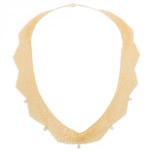Tiffany & Co. Peretti Mesh 0.25 CTW Diamond 18K Yellow Gold Choker Necklace