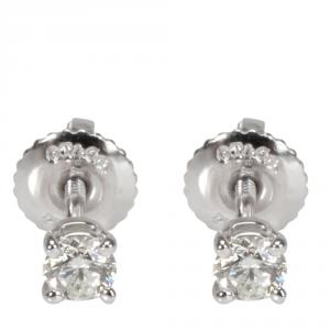 Tiffany & Co. 0.24 CTW Diamond Stud Platinum Earrings