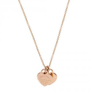 Tiffany & Co. Return to Tiffany Heart Tag 18K Rose Gold Pendant Necklace