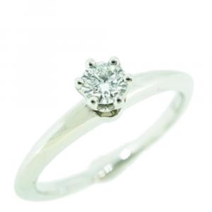 Tiffany & Co. Solitaire Engagement Platinum Diamond Ring Size 52