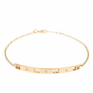 Tiffany & Co. Atlas Pierced Diamond 18K Rose Gold Bracelet
