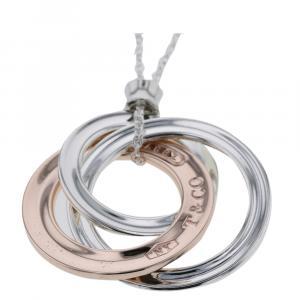 Tiffany & Co. 1837 Interlocking Circle Rubedo Silver Necklace