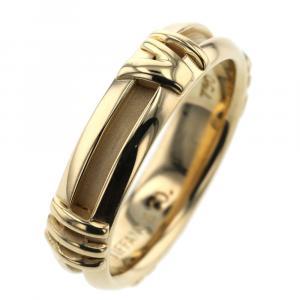 Tiffany & Co. Atlas Numeric 18K Yellow Gold Ring Size 49