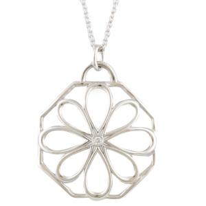 Tiffany & Co. Garden Open Flower Diamond 18K White Gold Necklace