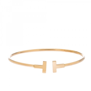 Tiffany & Co. T Wire 18K Rose Gold Bracelet