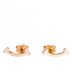 Tiffany & Co. Tiffany T Smile 18K Rose Gold Stud Earrings