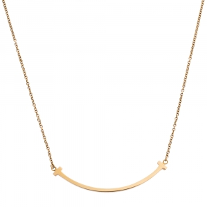 Tiffany & Co. T Smile 18K Yellow Gold Necklace