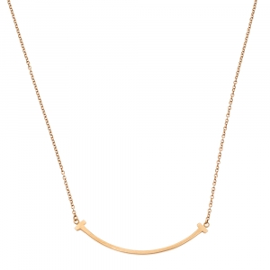 Tiffany & Co. Tiffany T Smile 18K Rose Gold Pendant Necklace