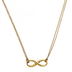 Tiffany & Co. Infinity 18K Yellow Gold Pendant Necklace