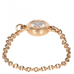 Tiffany & Co. By the Yard Elsa Peretti 18K Rose Gold Diamond Ring Size EU 45