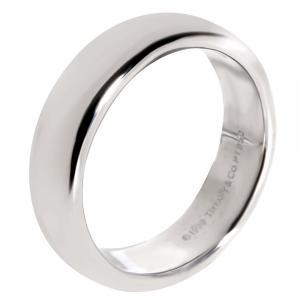 Tiffany & Co. Tiffany Classic Wedding Band Platinum Ring Size EU 59