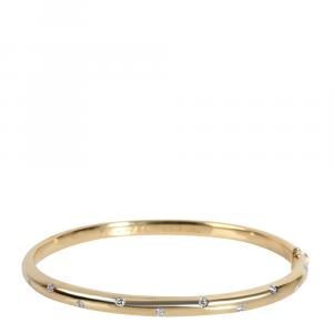 Tiffany & Co. 18K Yellow Gold and 950 Platinum 0.33 CTW Diamond Etoile Bangle