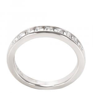 Tiffany & Co. Platinum 0.24 CTW Diamond Wedding Band Size EU 48
