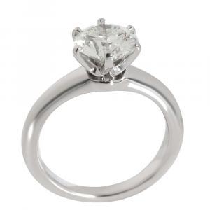 Tiffany & Co. Engagement Diamond Platinum Ring Size EU 46
