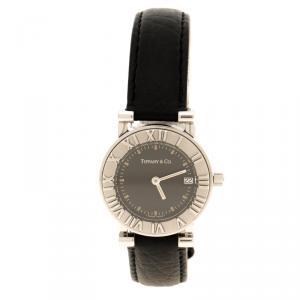 Tiffany & Co. Black Stainless Steel Atlas Women's Wristwatch 25 mm