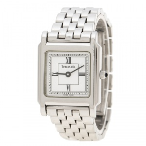 Tiffany & Co. White Stainless Steel Classic Women's Wristwatch 23 mm