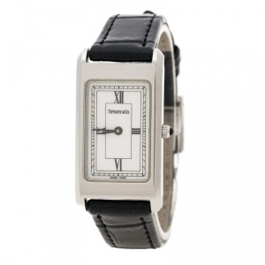 Tiffany & Co. White Stainless Steel Classic Women's Wristwatch 20 mm