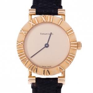 Tiffany & Co. Gold 18k Gold Atlas Women's Wristwatch 30MM