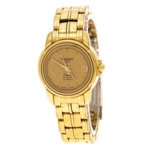 ساعة يد نسائية تيسوت سي ستار A630/730 ستانلس ستيل مطلي ذهب 24مم