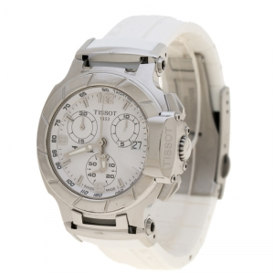 Tissot White Stainless Steel T-Race T048217A Women's Wristwatch 33 mm